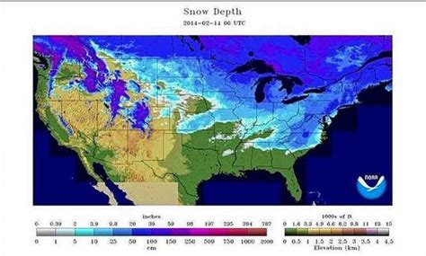 united states covered  snow today