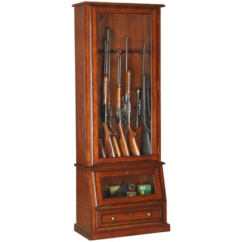 Gun Cabinets For Sale by American Furniture Classics 898 Wood 12 Gun Cabinet With