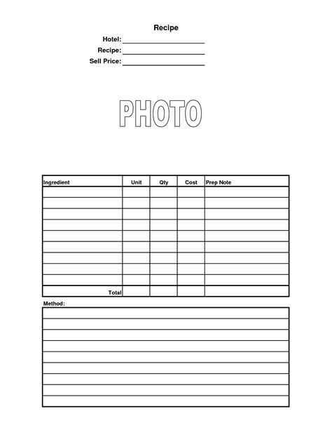 Food Costing Sheet Template by 6 Best Images Of Recipe Costing Worksheet Recipe