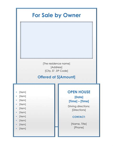 for sale by owner template for sale by owner flyer free flyer templates for microsoft office