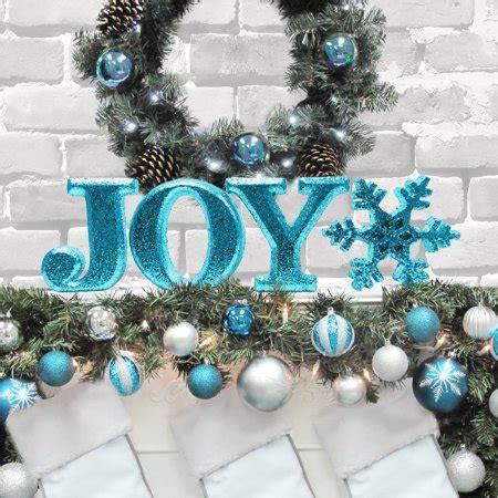 "Holiday Time Christmas Decor 8"" Decorative Joy Letter Set"
