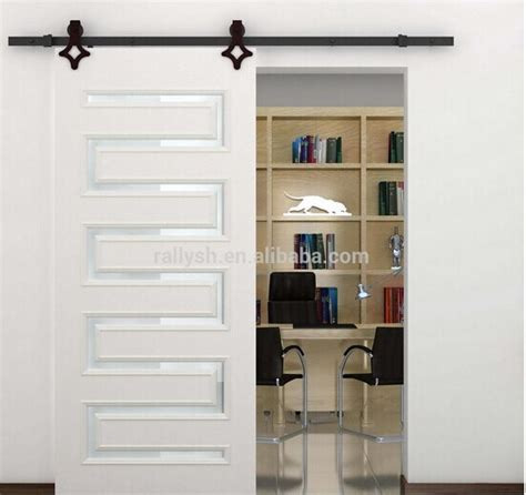 2015 fashion sliding barn door hardware carbon steel wood