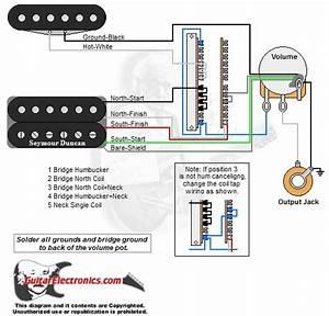 1 Humbucker  1 Single Coil  5-way Lever Switch  1 Volume  01
