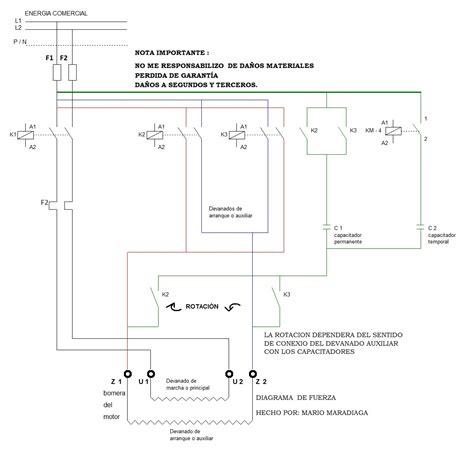 recablear elevador de motor trifasico a monofasico esquemas yoreparo
