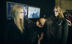 London Fashion Week: Cara Delevingne and Jourdan Dunn film ...