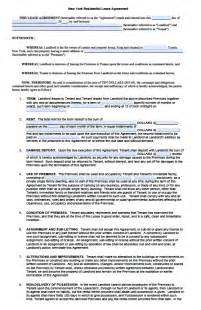 New York Residential Lease Agreement Template