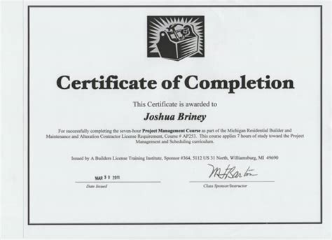 Construction Certificate Of Completion Template - Costumepartyrun
