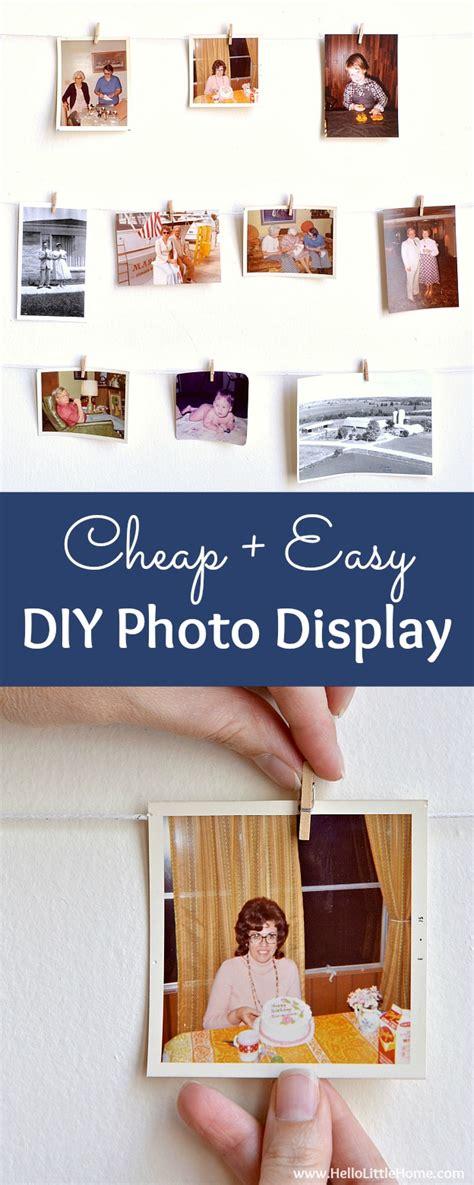 Cheap + Easy Diy Photo Display  Hello Little Home