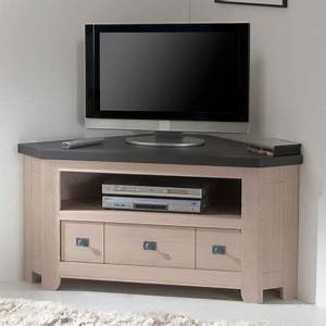 Meuble D Angle Tele : meuble tv 2 portes whitney ~ Teatrodelosmanantiales.com Idées de Décoration