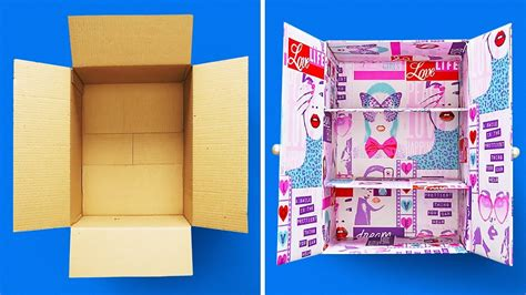 cardboard boxes crafts youtube