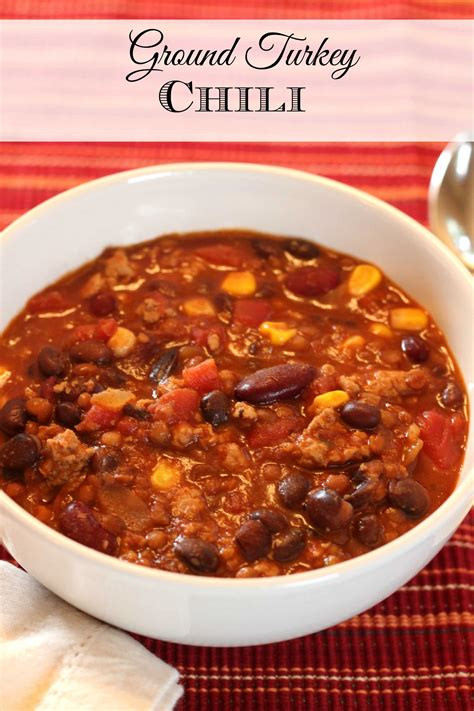 Looking for recipes for ground turkey? Ground Turkey Chili Recipe - Mom vs the Boys