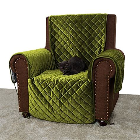 Green Slip Cover by Buddy Quilted Velvet Pet Recliner Cover Water