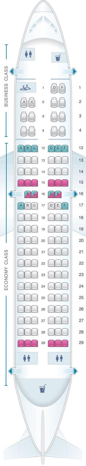 siege avion air plan de cabine air canada airbus a319 100 config 1