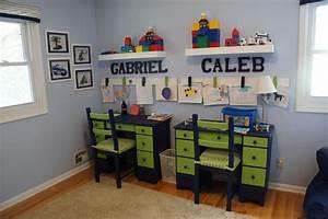 Boys' Shared Bedroom: Lego Theme - The Kid-Friendly Home