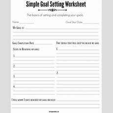 4 Free Goal Setting Worksheets  4 Goal Templates To Manage Your Life