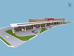 Station Essence Marseille : projet d 39 architecture d 39 une centre commercial dans le var ~ Dode.kayakingforconservation.com Idées de Décoration