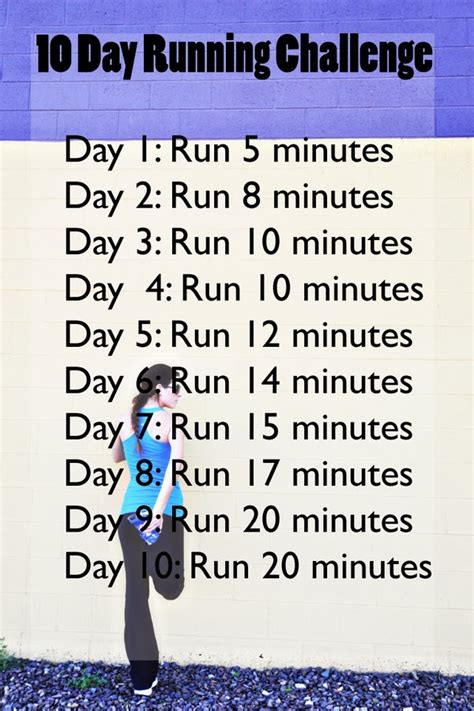 Fit Friday 10 Day Running Challenge  The Shine Project