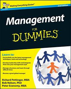 Management For Dummies By Richard Pettinger And Bob Nelson