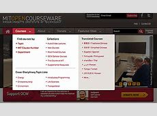 Finding Courses on MIT OpenCourseWare MIT OpenCourseWare
