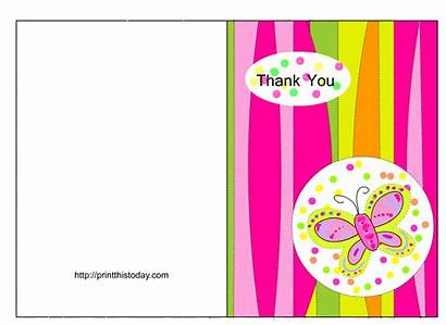 Thank Cards Printable Shower Butterfly Card Template