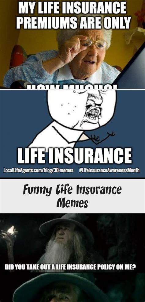 Explore life insurance plans for every goal in life. Funny Life Insurance Memes form Local Life Agents #insurancePrintAd #insuranceImages # ...