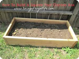 How to build a square foot garden box or a raised garden box for Build garden box