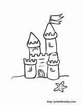 Coloring Pages Castle Summer Printable Sand Beach Clip Preschool Castles Printthistoday Clipart Colour Drawing Children Simple Colouring Fun Shell Printables sketch template