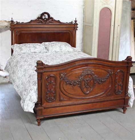 mahogany king headboard beautifully carved louis xv1 style walnut and 3958