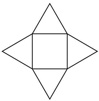 square based pyramid net image geometry shapes