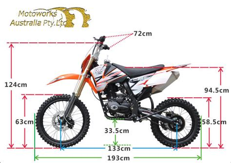 how to size motocross details about new motoworks bigfoot 250cc motor dirt trail