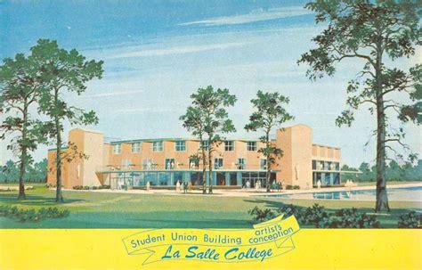 philadelphia pennsylvania la salle college view vintage postcard k56974 l martin