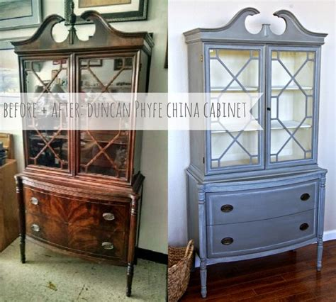Painted Duncan Phyfe China Cabinet before after duncan phyfe china cabinet see how chalk
