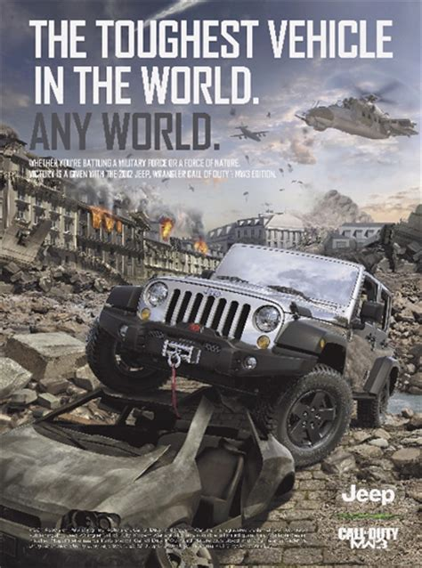 jeep print ads video jeep wrangler call of duty mw3 video contest