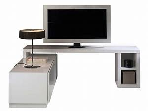 Meuble Tv Extensible : meuble tv modulable nani coloris blanc vente de meuble ~ Teatrodelosmanantiales.com Idées de Décoration