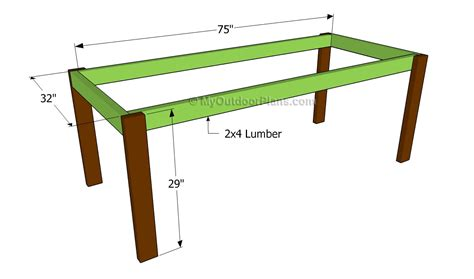 build diy farm table plans drawings  plans wooden doll