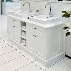 Classic white 1500 marble top bathroom vanity at allure for Classic vanities bathrooms