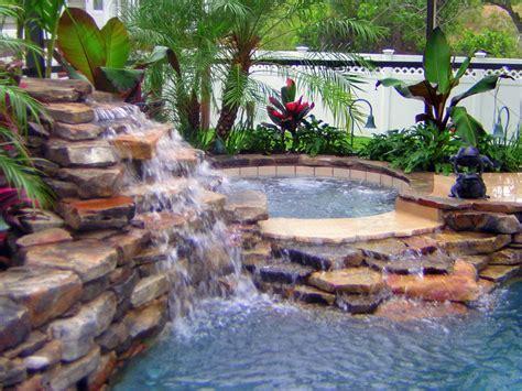 swimming pool   waterfall swimming pools