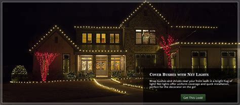 how to attach net lights to hedges outdoor yard decorating ideas