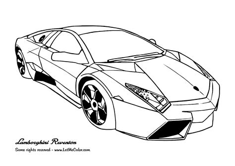 Sports Cars Free Colouring Pages