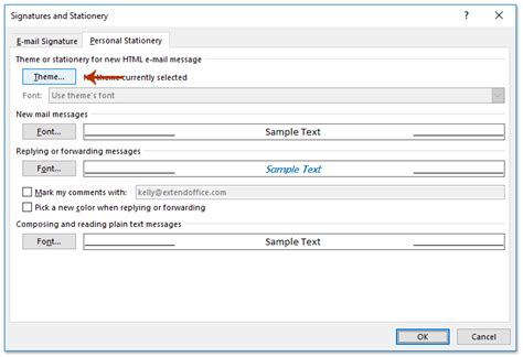 change default email template  outlook