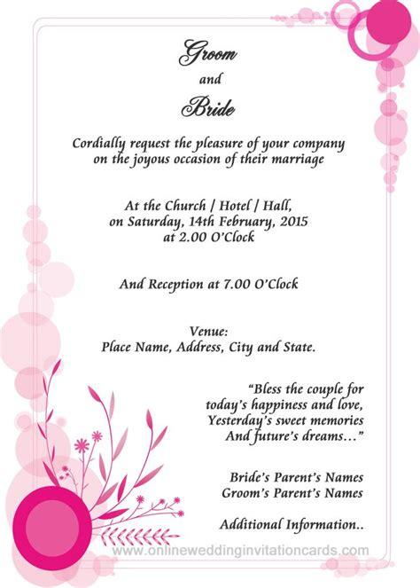 wedding invitation sample examples  wedding