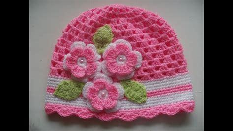 Gorro tejidos a crochet para bebe de verano YouTube