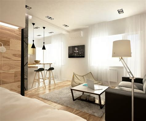 2 Simple, Super Beautiful Studio Apartment Concepts For A