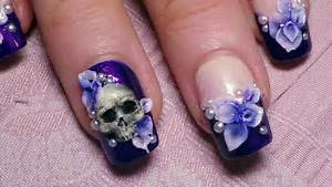 Very beautiful d flowers nail art designs
