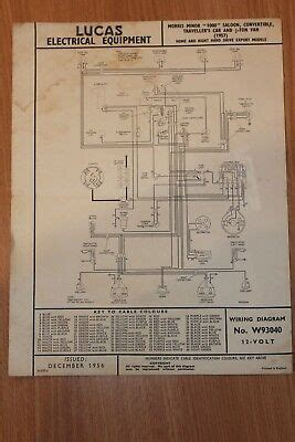 Morri Minor Wiring Diagram by Lucas Wiring Diagram Morris 8 10 Cwt Vans 1936 163 3 75