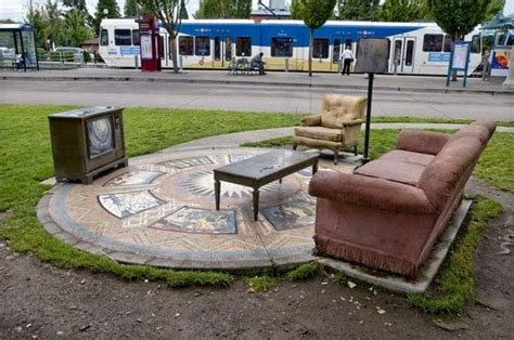 'the Living Room' Art Installation At Trimet's Gresham Living Room Design And Colour Ideas Condominium Interior Dwr Sale Northeast Feng Shui Where To Put Tv In A With Fireplace Scandinavian Livingroom They Sit Down The Spanish Louis Xvi
