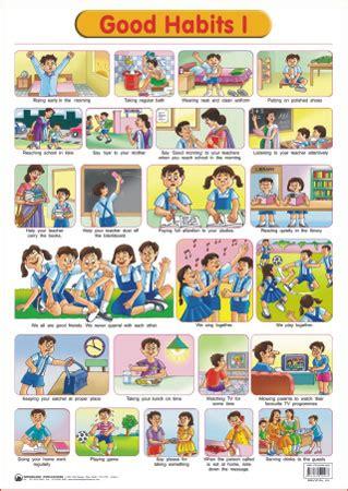 buy educational charts series good habits   rs