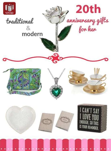 20th anniversary gift best 20th anniversary gift ideas for her vivid s