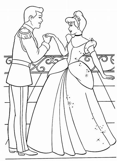 Coloring Cake Cinderella Prince Princess