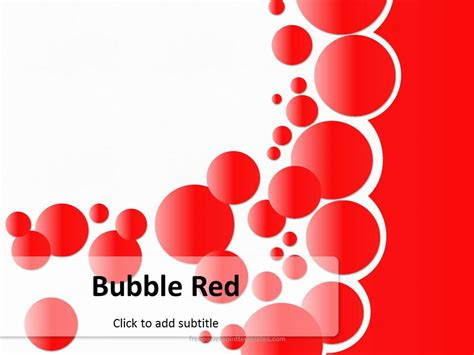 bubble red powerpoint template